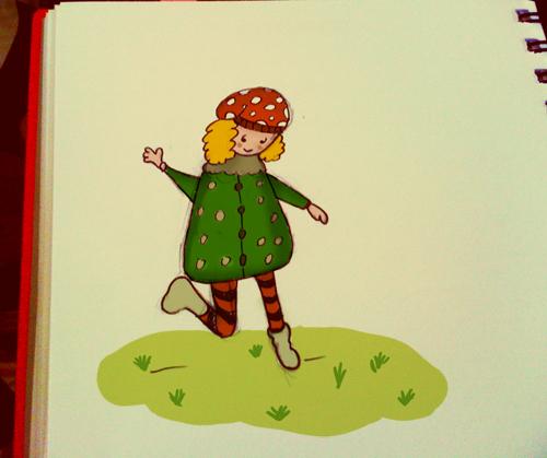 By serenity in çizim karakter etiketler hadi oynayalım kız çizimi