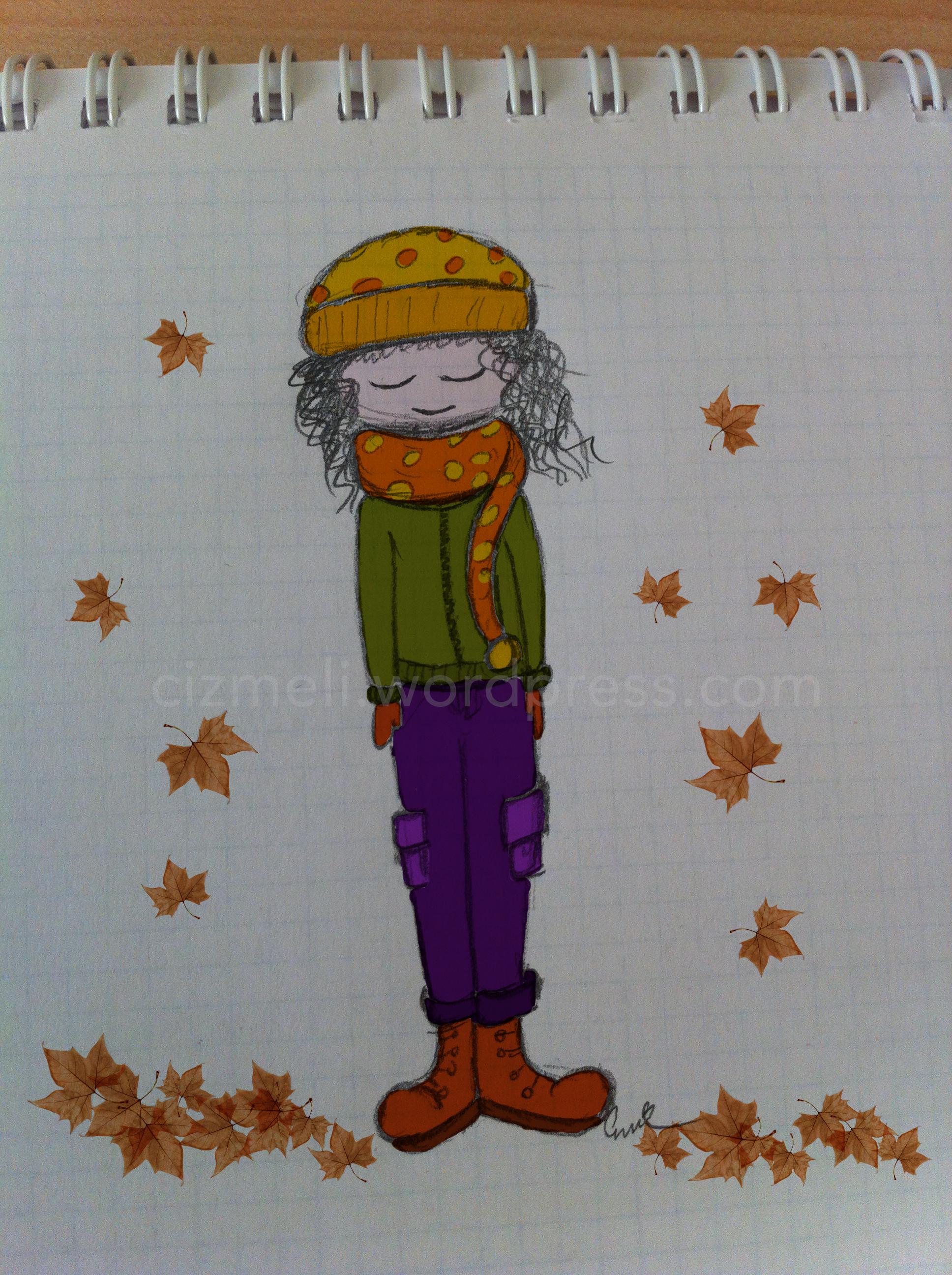 Sonbahar şimdi Birşeyler çizmeli